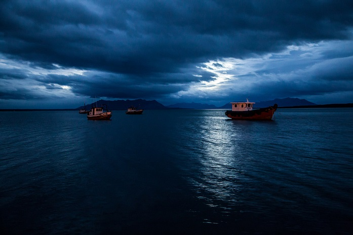 Boats in Puerto Natales