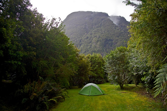 Rio Gonzalo, Caleta Gonzalo campground, Pumalin