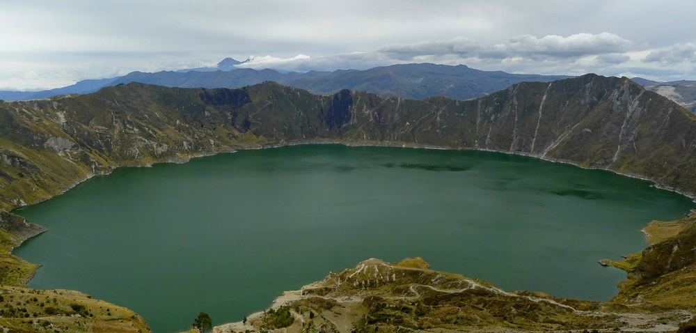 Quilotoa Lake, views; Ecuador landscapes, nature