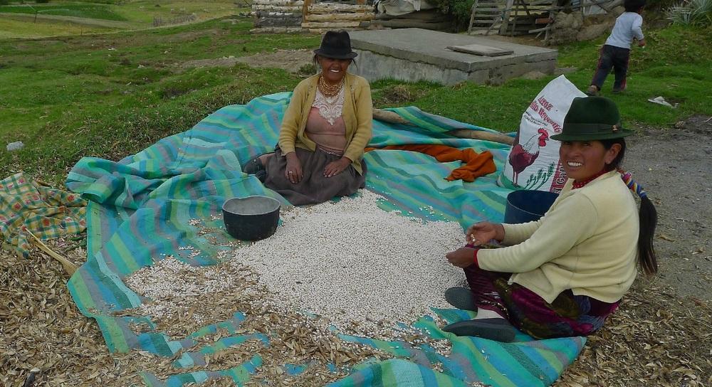 Andean village, Ecuador; people, culture