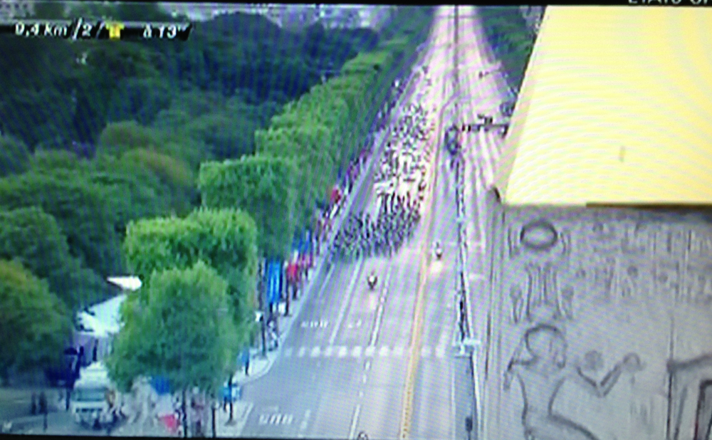 Le Tour de France from the top of the Obelisk