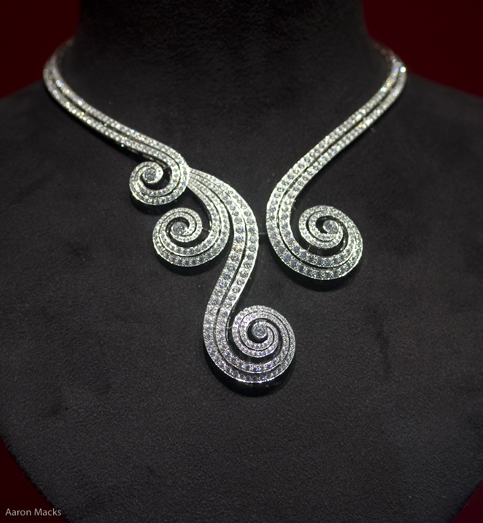 Spiral Diamond Necklace