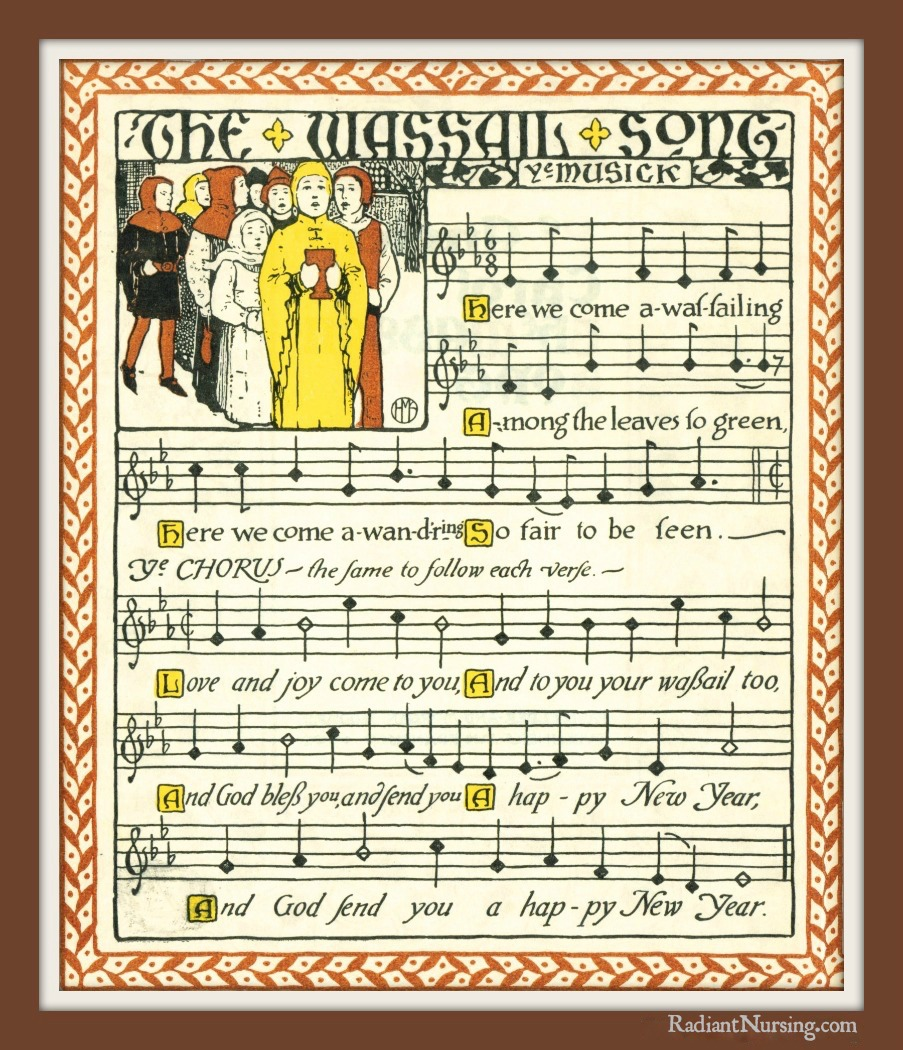 The beautiful sheet music for The Wassail Song.