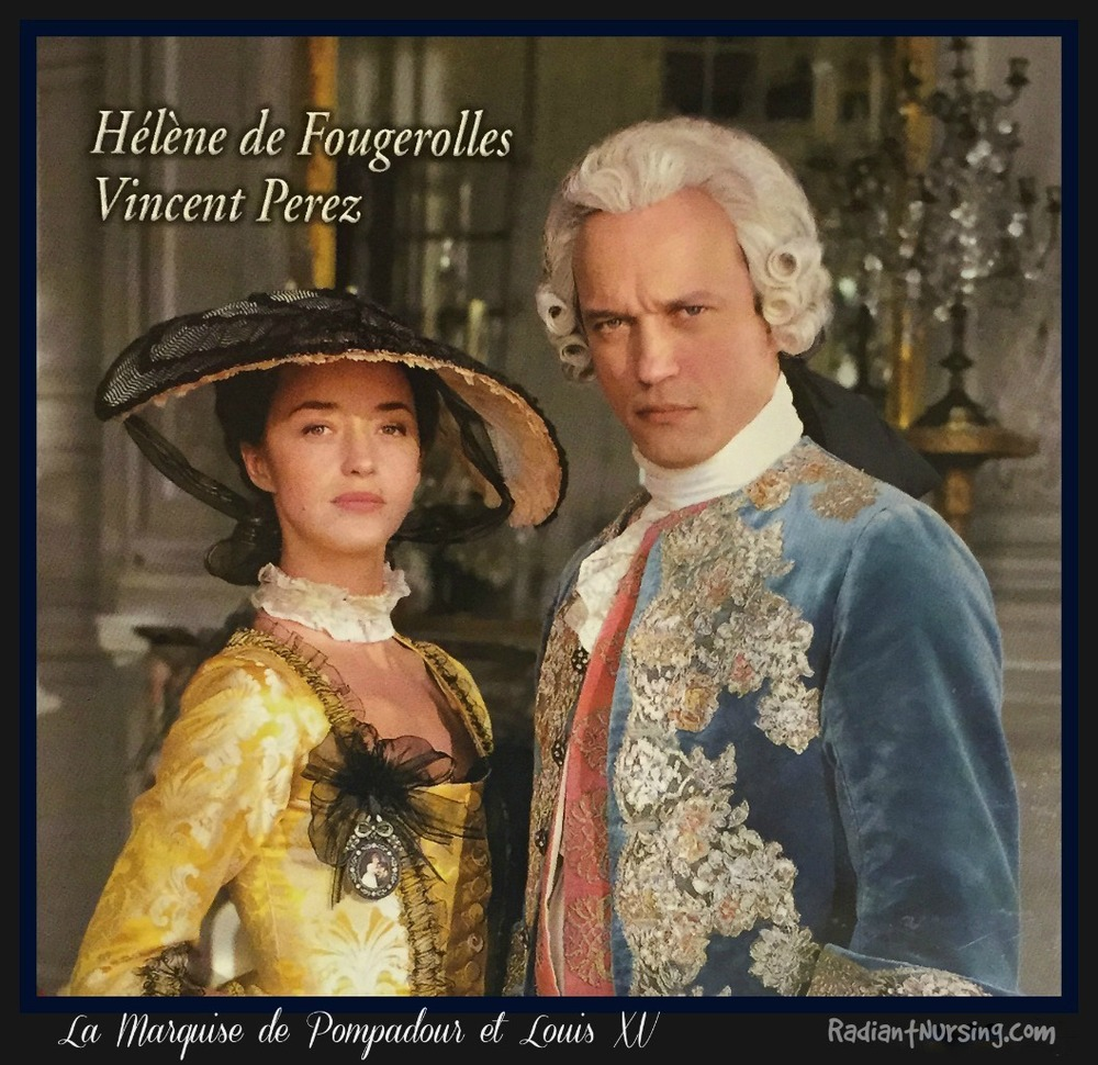 La Marquise de Pompadour and the King, Louis XV. From a movie, of course. Time travel.