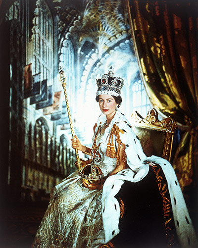 The Queen for her coronation in 1953.
