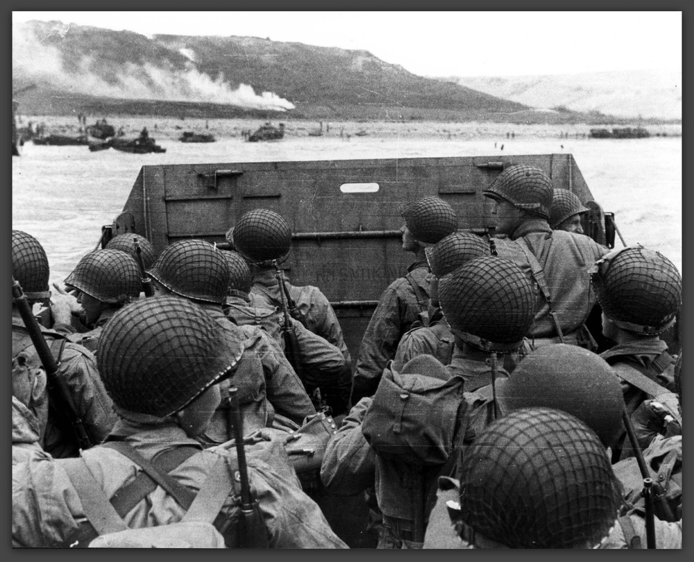 D-Day landing on 06 June 1944. The immense bravery and sacrifice.