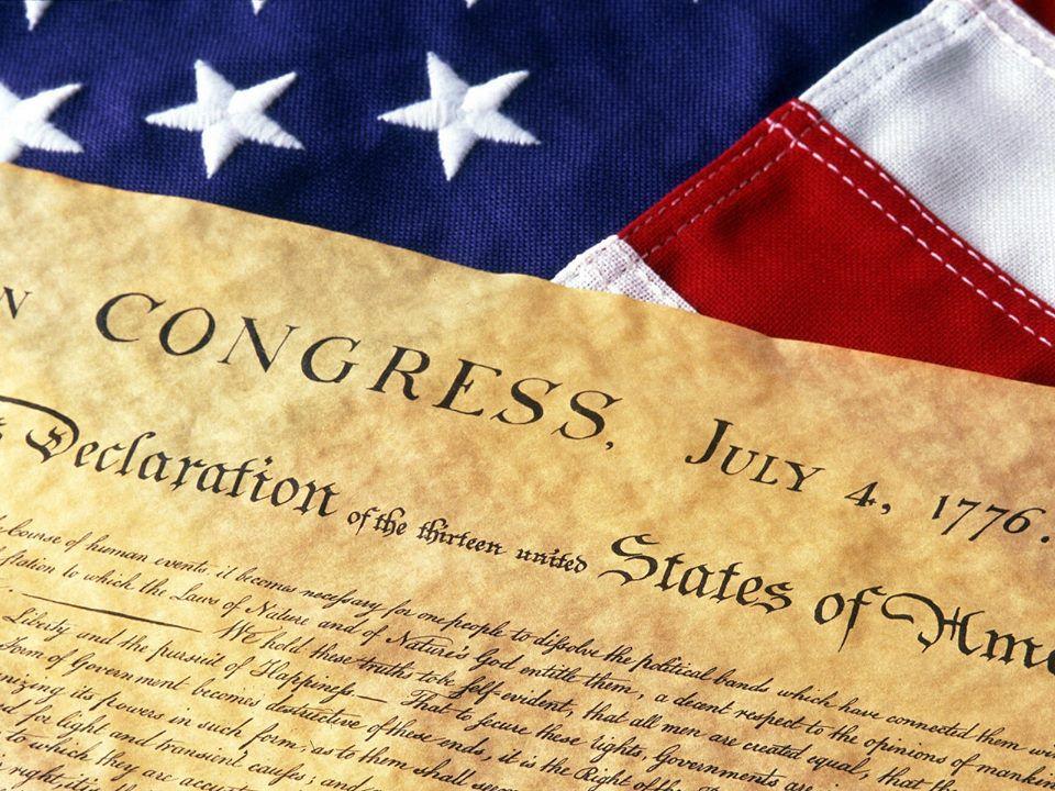 Declaration of Independence USA.