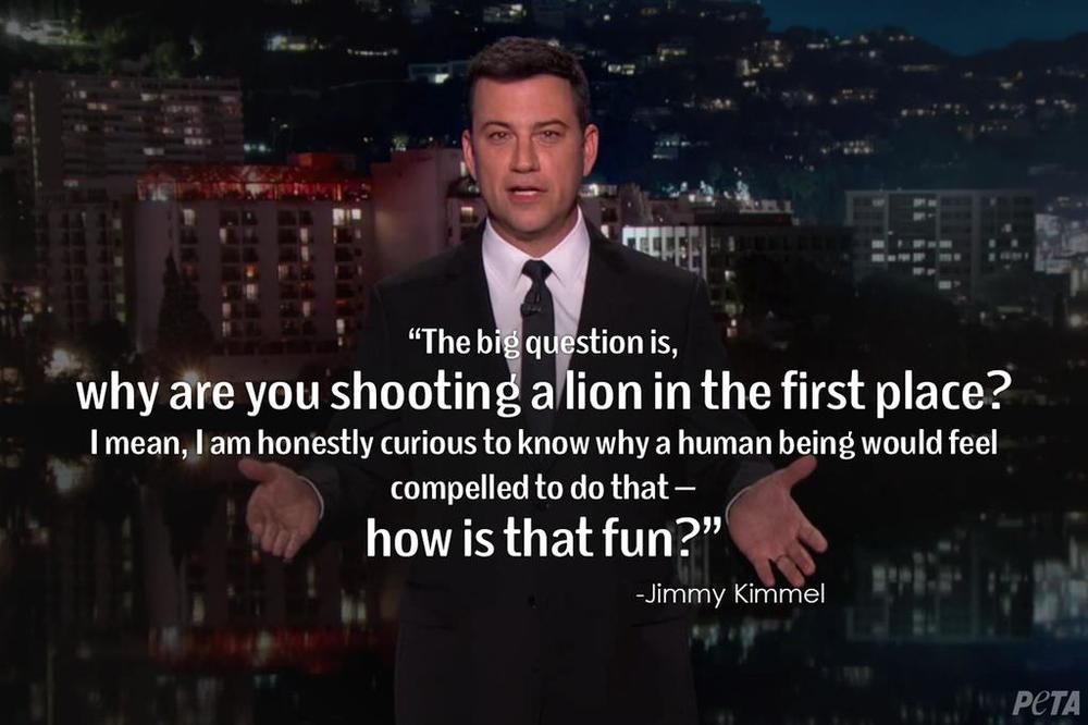 Jimmy Kimmel weighs in on the killing of Cecil the Lion.