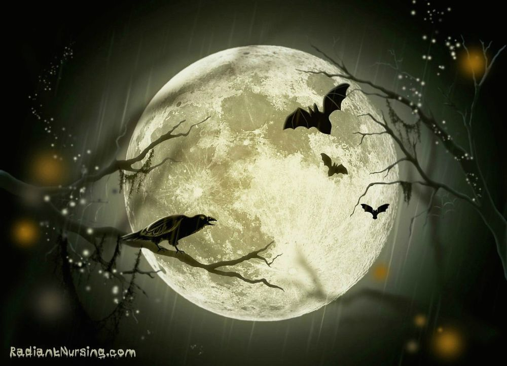 A Halloween Moon calls out on this magical night. Hearts in the Wind.