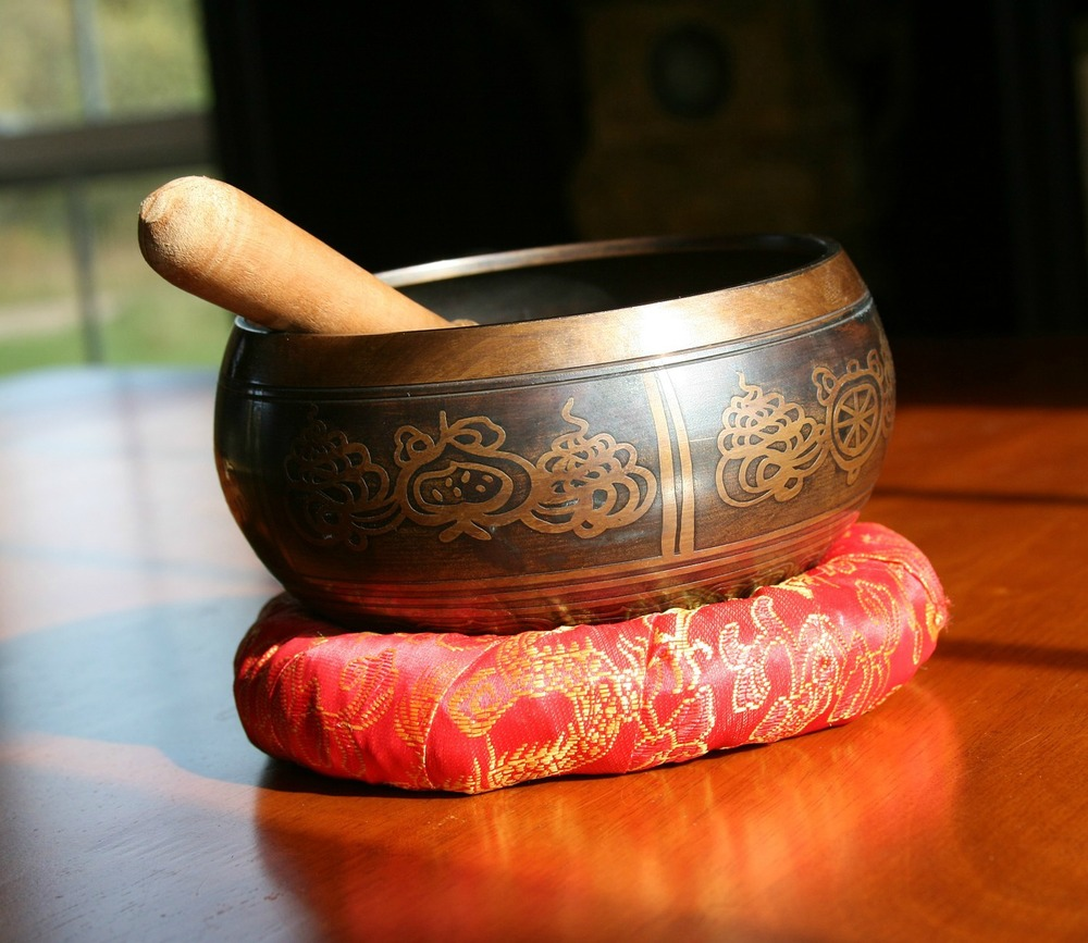 Insight Timer uses the sounds of Tibetan singing bowls to time your meditations.