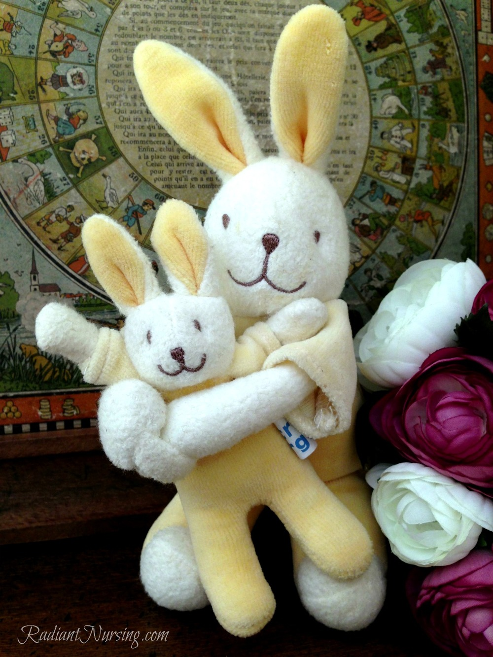 A momma bunny and a baby bunny for Easter!