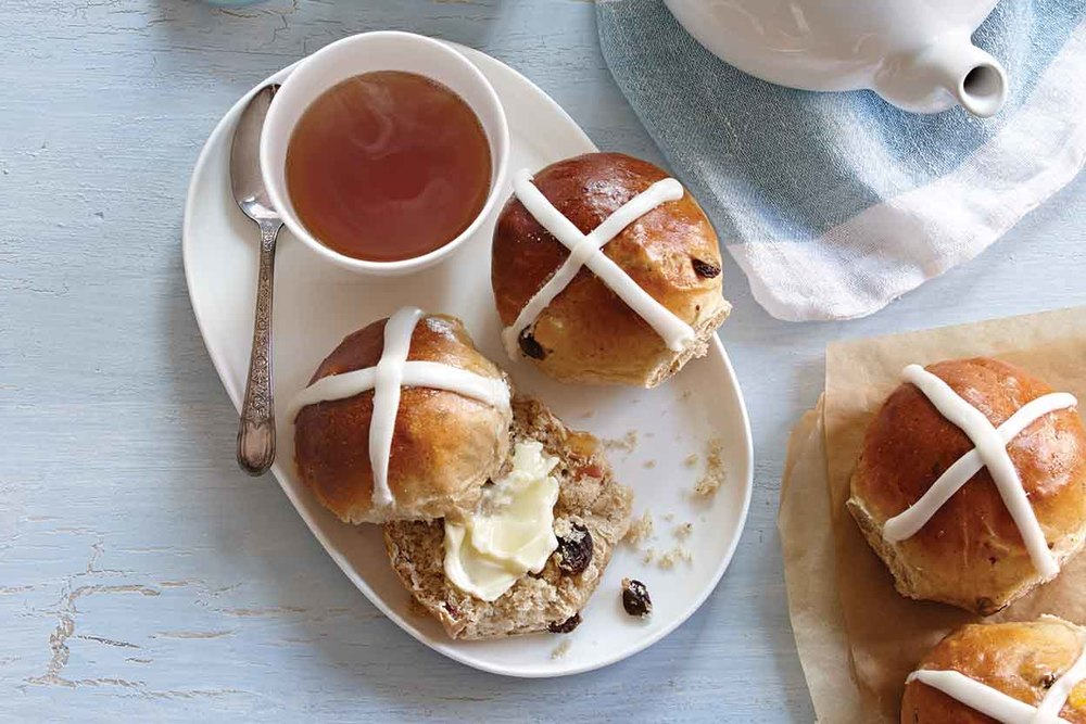 A delicious treat based in tradition, hot cross buns.