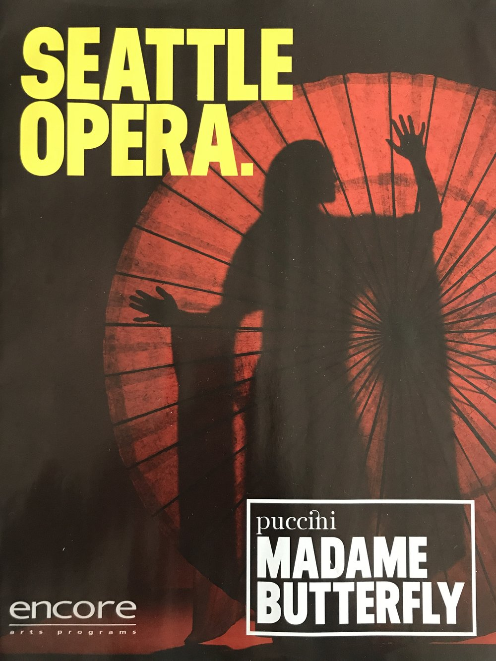 Madama Butterfly was performed at The Seattle Opera in 2017.