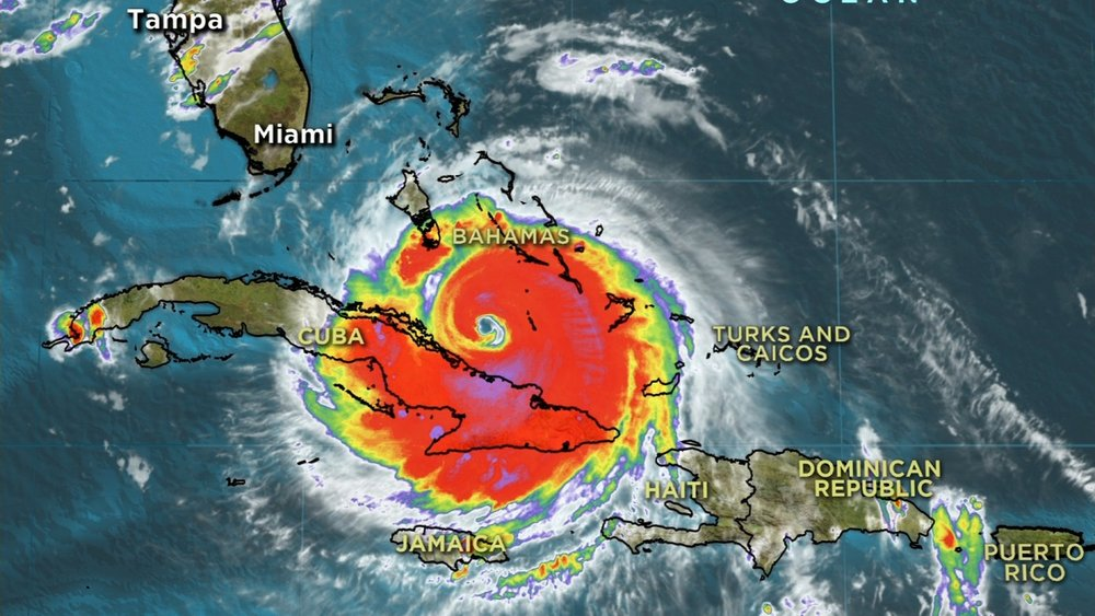 Hurricane Irma approaching Florida in 2017.
