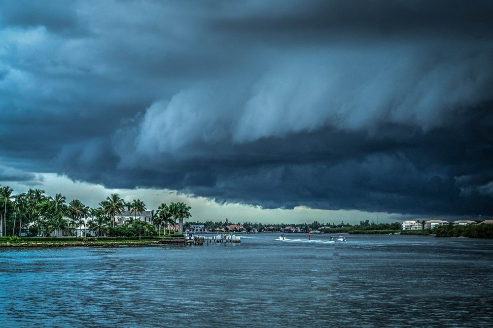 A storm over Florida.