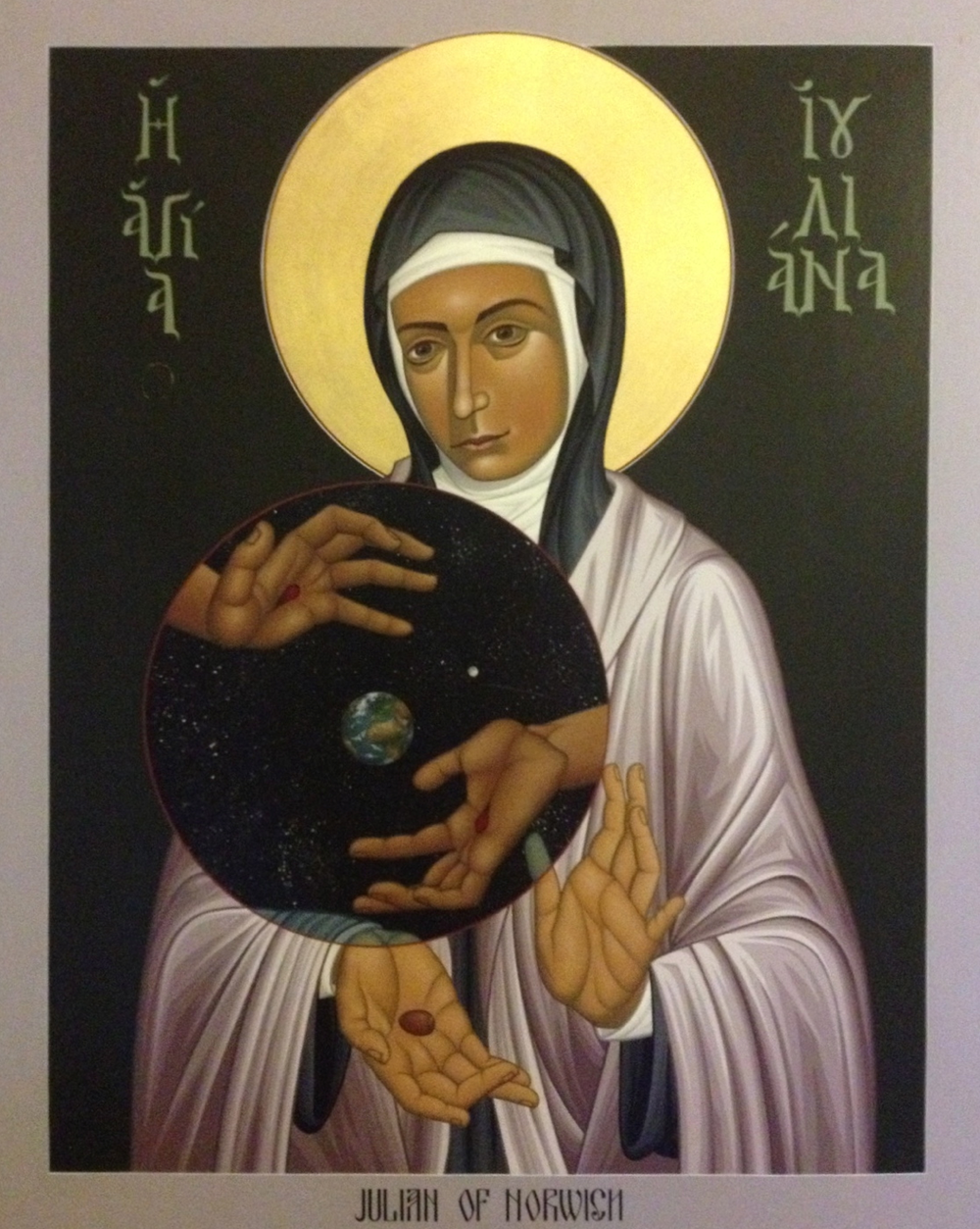 Julian of Norwich from England in the 1300s. God, and the whole world, can be found within the small, humble hazelnut.