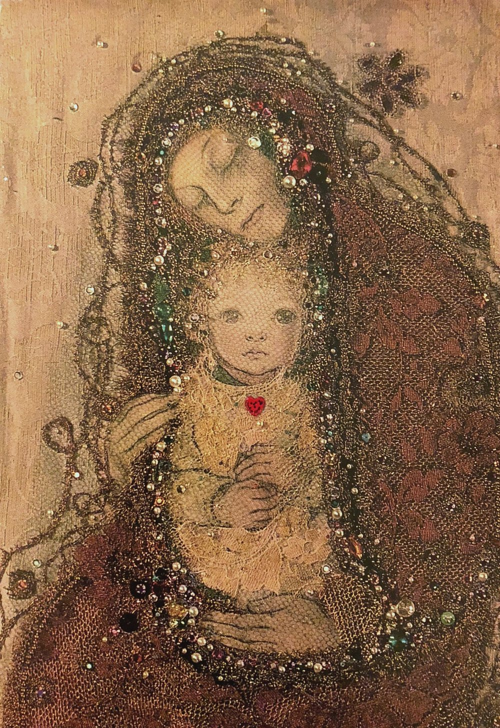 Frohe Weihnachten by Sulamith Wülfing. The Madonna and Child.