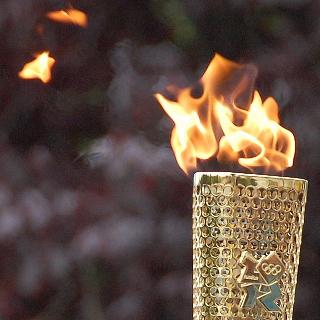 The Olympic Flame for the 2012 Summer Olympics in London.