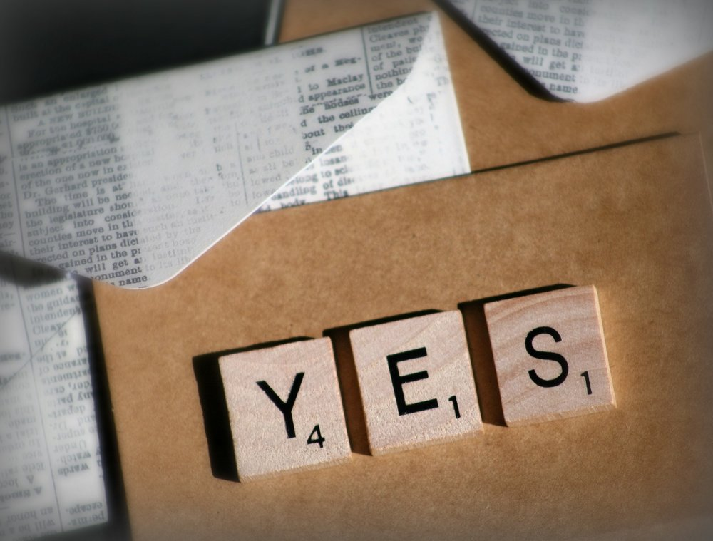 Saying yes to yourself and your life.