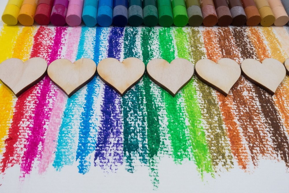 Paint your day with the colors of love.