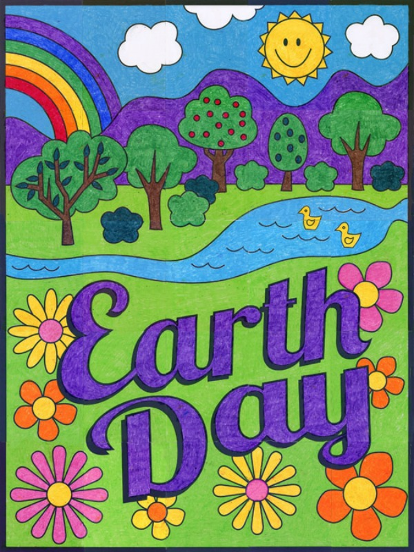 Earth Day is April 22. We celebrate the Earth and our ongoing care of it.