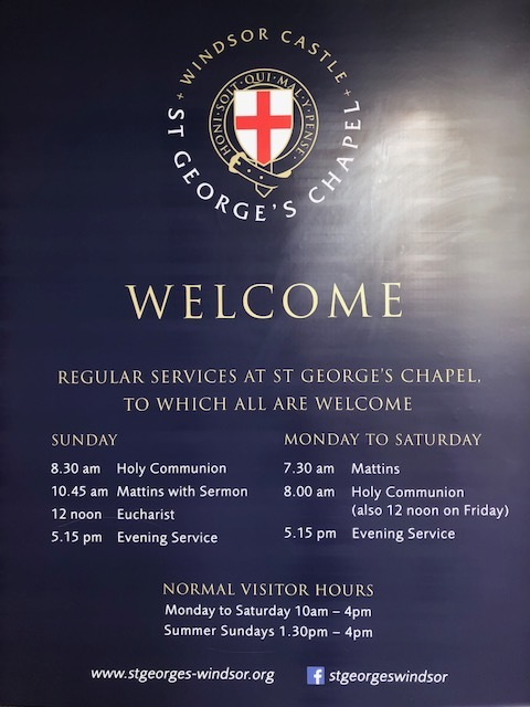 Services at St George's Chapel, the spiritual home of the Order of the Garters.