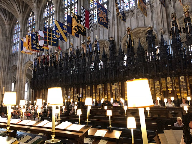 Attending Evensong at St George's Chapel.