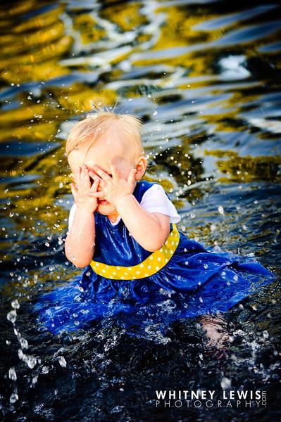 Baby Splashing in Water