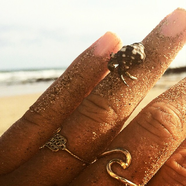 My rings are very special to me with lots of sentimental value. If you have a small, travel-able keepsake, I say take it with you to keep your loved ones close.