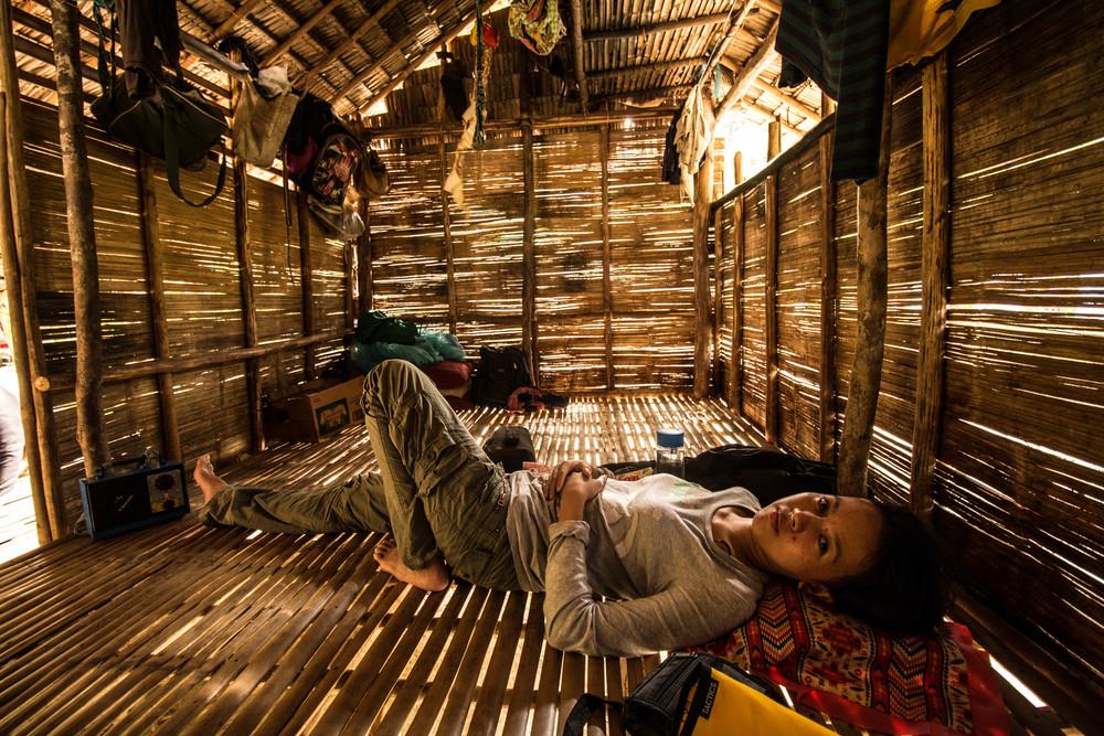 LANGOGAN, PALAWAN -Lara rested inside the Batak chieftain's hut.