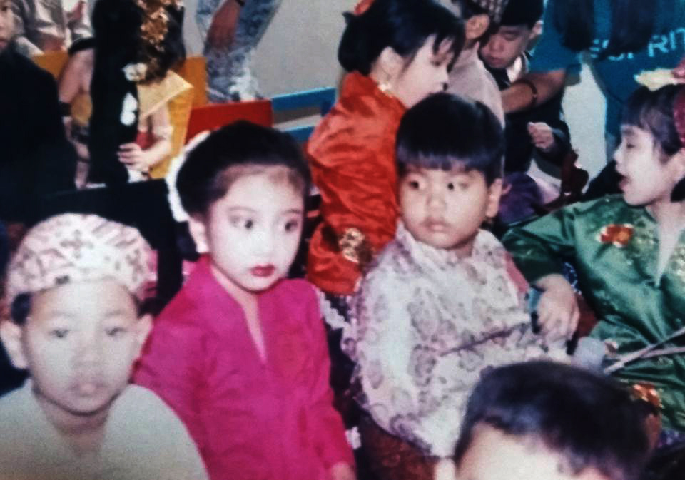 My brother and I dressed in Indonesian garb during Ibu Kartini Day celebration in our school in Jakarta, Indonesia. This photo was probably taken in 1993, if I'm not mistaken.