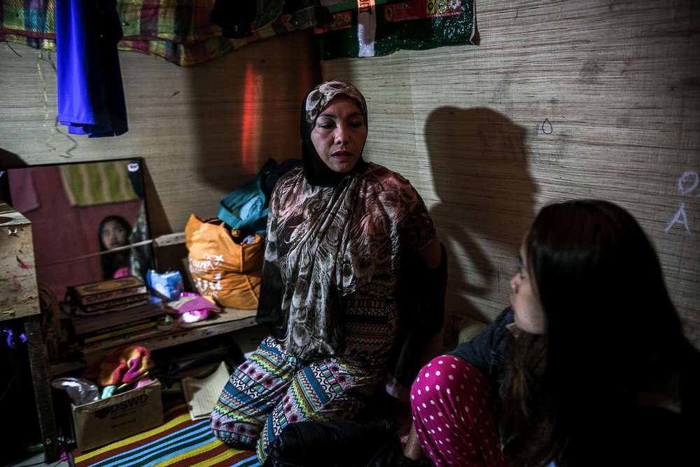 Noraidah, Fatima's widowed mother, raises her children all by herself. She remarried after her first husband died but her second husband went missing following the Marawi siege. She planned to work abroad as a domestic helper to support her children but the odds are stacked against her.