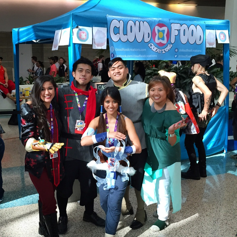Team Avatar in front of our booth!