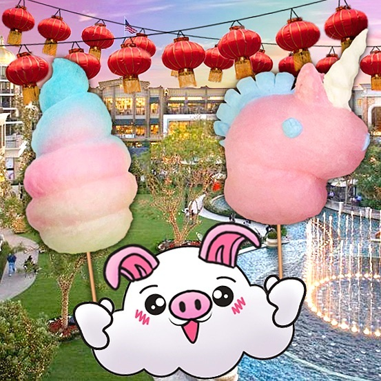 Enjoy a classic treat with a thrilling twist! Enjoy mesmerizing cotton candy creations at @Americanabrand this Sunday (1/27)! Celebrate #LunarNewYear in style and make your loved ones jealous when they see you enjoying cotton delights along with @KoreosUCLA, sugar painting and more! . . . #yearofthepig #oinkoink #lunar #lunarfestival #lunarnewyearfestival #cottoncandy #cottoncandyart #candyfloss #foodporn #cutefood #kawaii #kawaiifood #sugarart #foodart #lunarcalendar #snackattack
