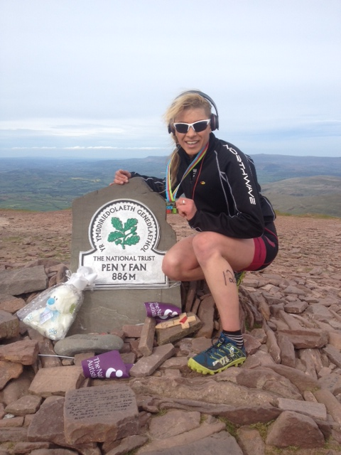 Straight after Brecon Sprint Triathlon 2015 I have ran Pen Y Fan mountain to support my charity the Education For The Children.