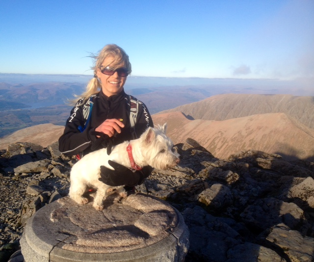 The Ben Nevis dog walking. But she is more fit than me even her legs are short!