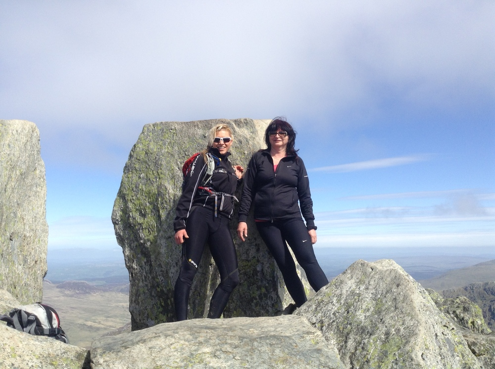 Proud of my auntie :) top of Tryfan.