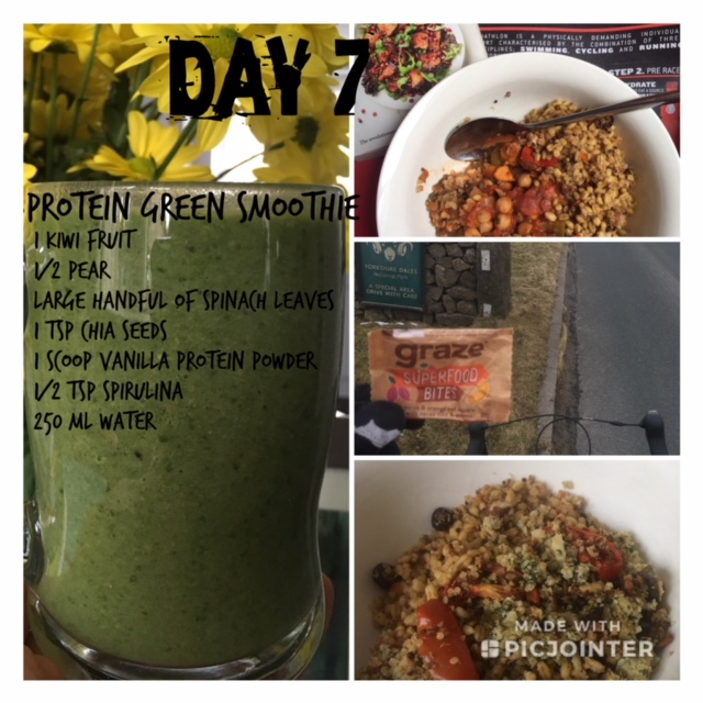 Protein Greens Smoothie per serving: 196 kcal, 25.5 g protein, 3.9 g fat, 0.1 g sat fat, 19.4 g carbs, 16.4 g sugars