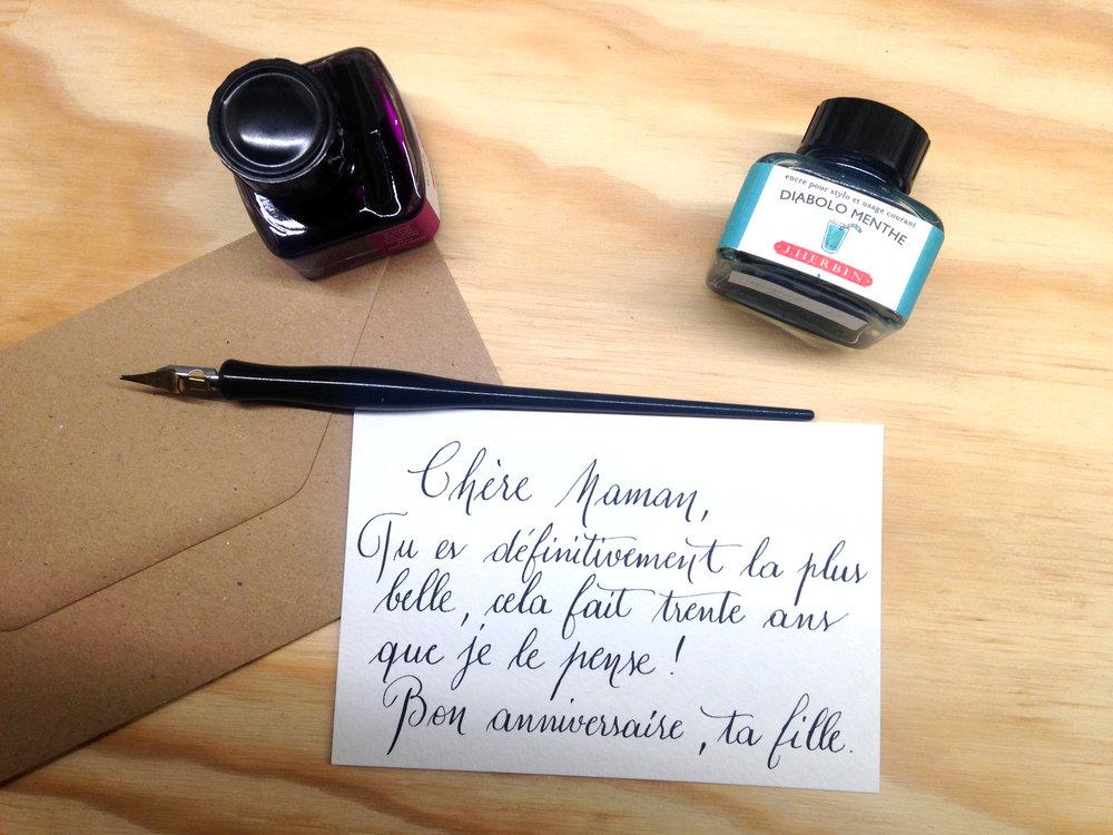 Le Héron calligraphie calligraphe paris