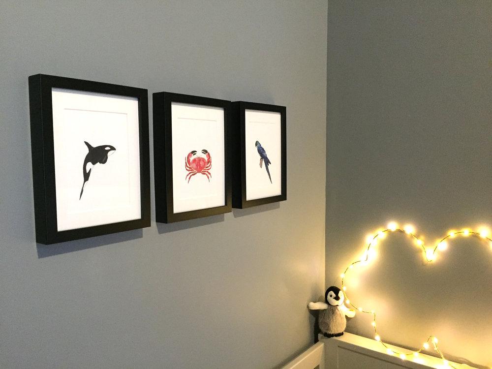 animaux aquarelle studio Le Héron
