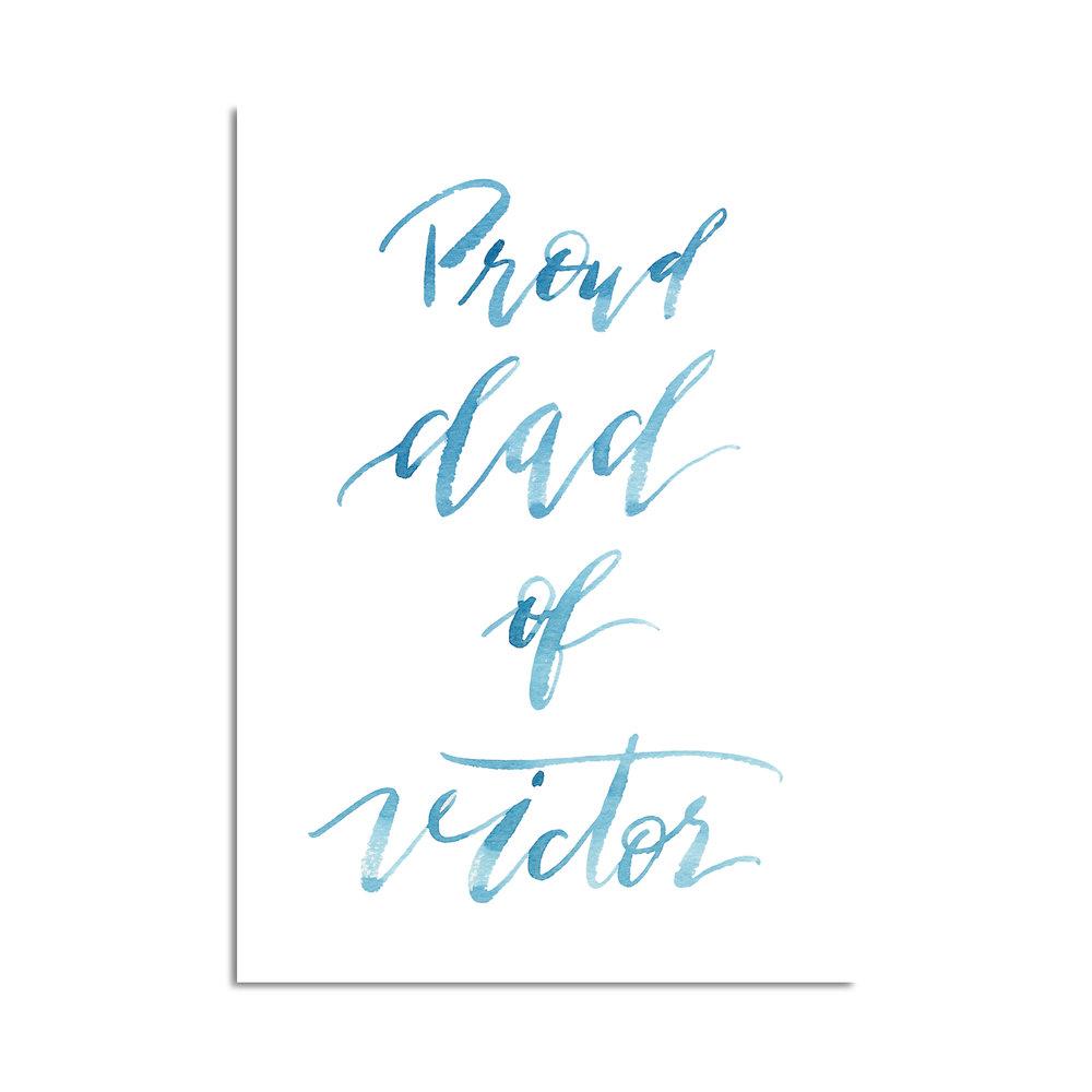 proud dad calligraphie aquarelle studio le Héron