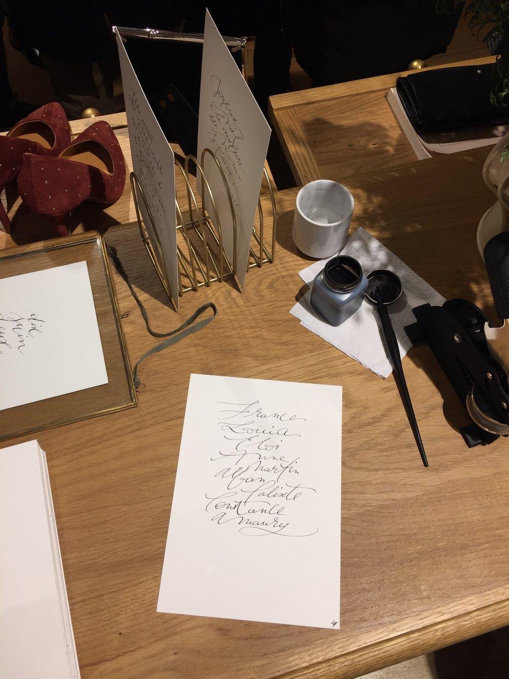 atelier Sézane au Bon marché par studio le Héron