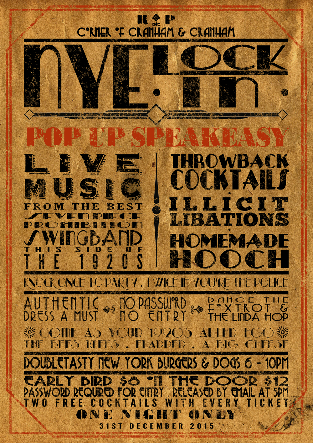 new years eve pop up speakeasy tickets on now the rickety new years eve pop up speakeasy tickets on now the rickety press