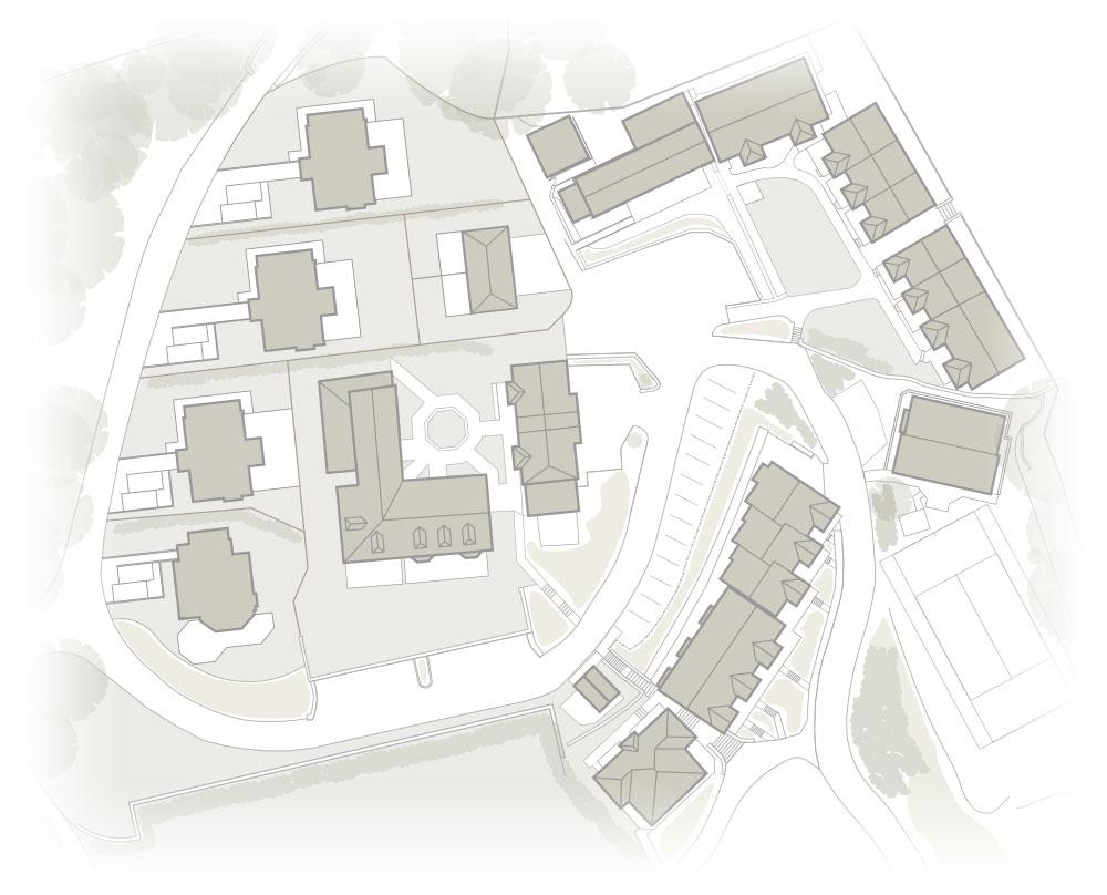 Hillfield Village - site map