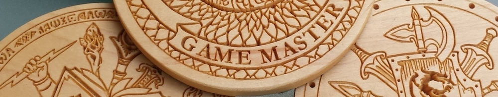 Hard maple coasters.