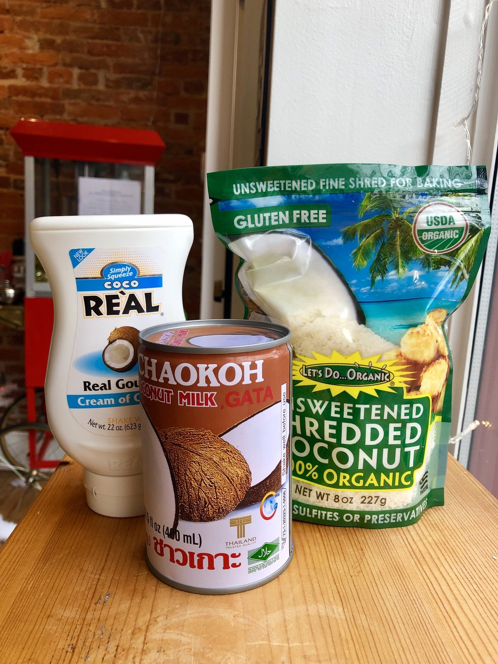 Limber de Coco Ingredients