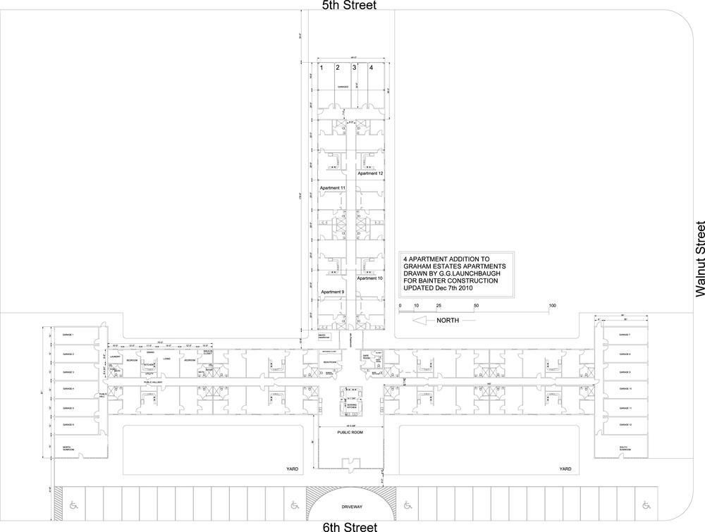 Floorplan of Graham Estates, Hill CIty KS