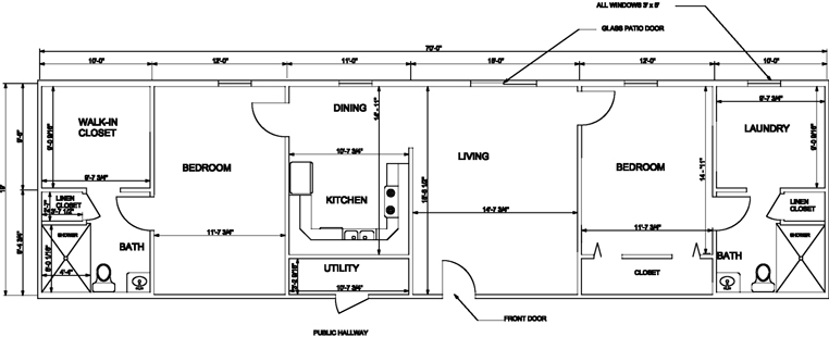 floorplan of individual apartments