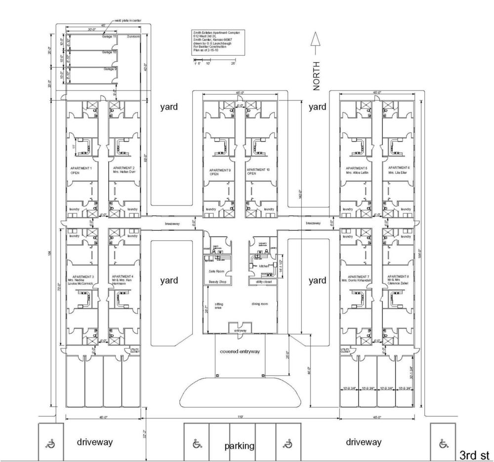 Floorplan of Smith Estates, Smith Center Kansas.