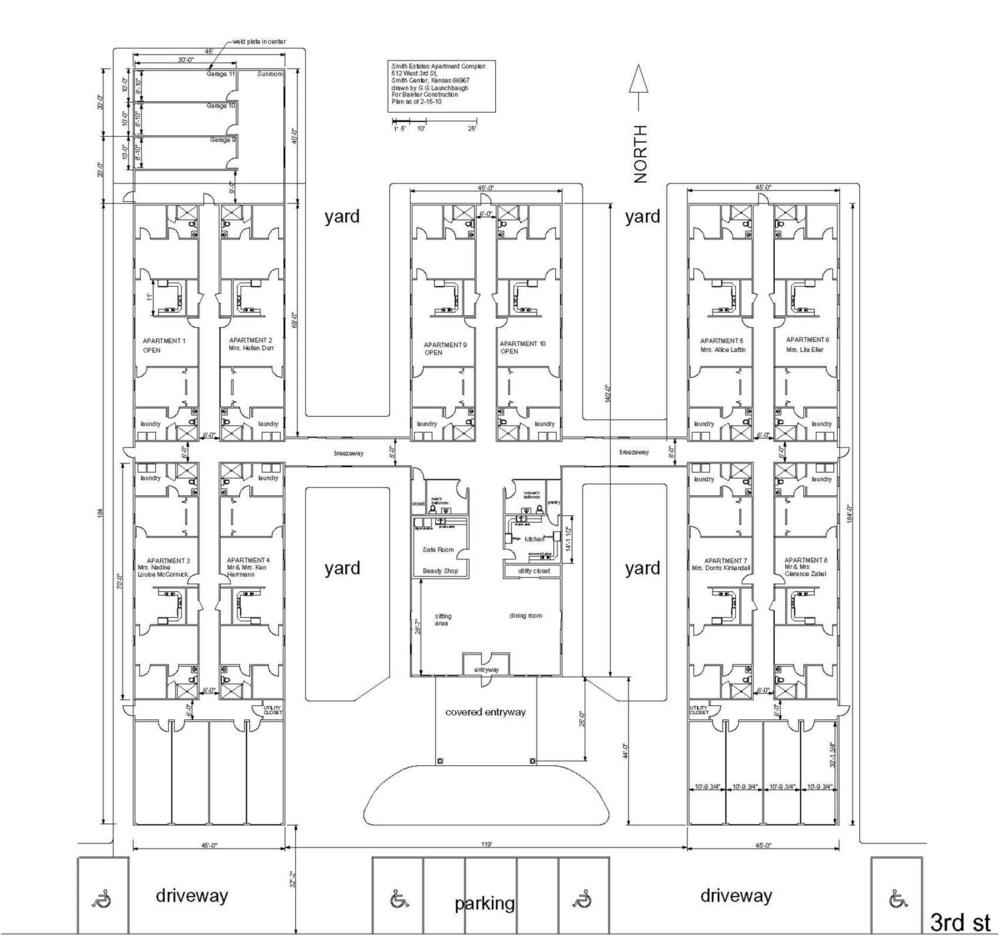 Floorplan of Smith Estates, Smith Center Kansas.